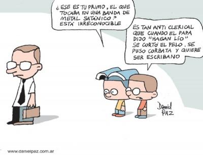 """anticlerical"" por Daniel Paz"