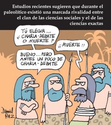 """sociales vs exactas"" por Daniel Paz"