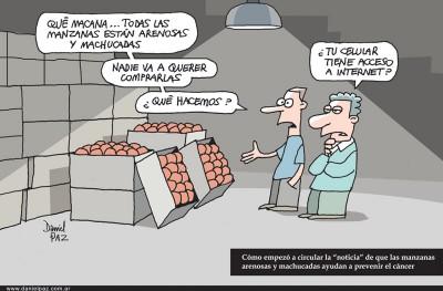 """""""manzanas machucadas"""" por Daniel Paz"""