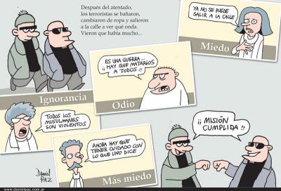 """""""terroristas"""" `por Daniel Paz"""