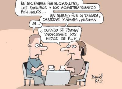 """""""diciembre y enero"""" por Daniel Paz"""