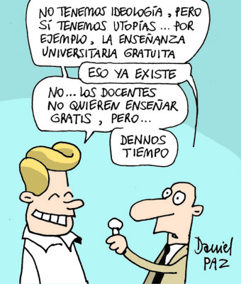 """enseñanza gratuita"" por Daniel Paz"