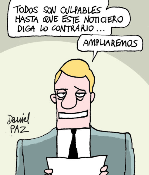 """noticiero"" por Daniel Paz"